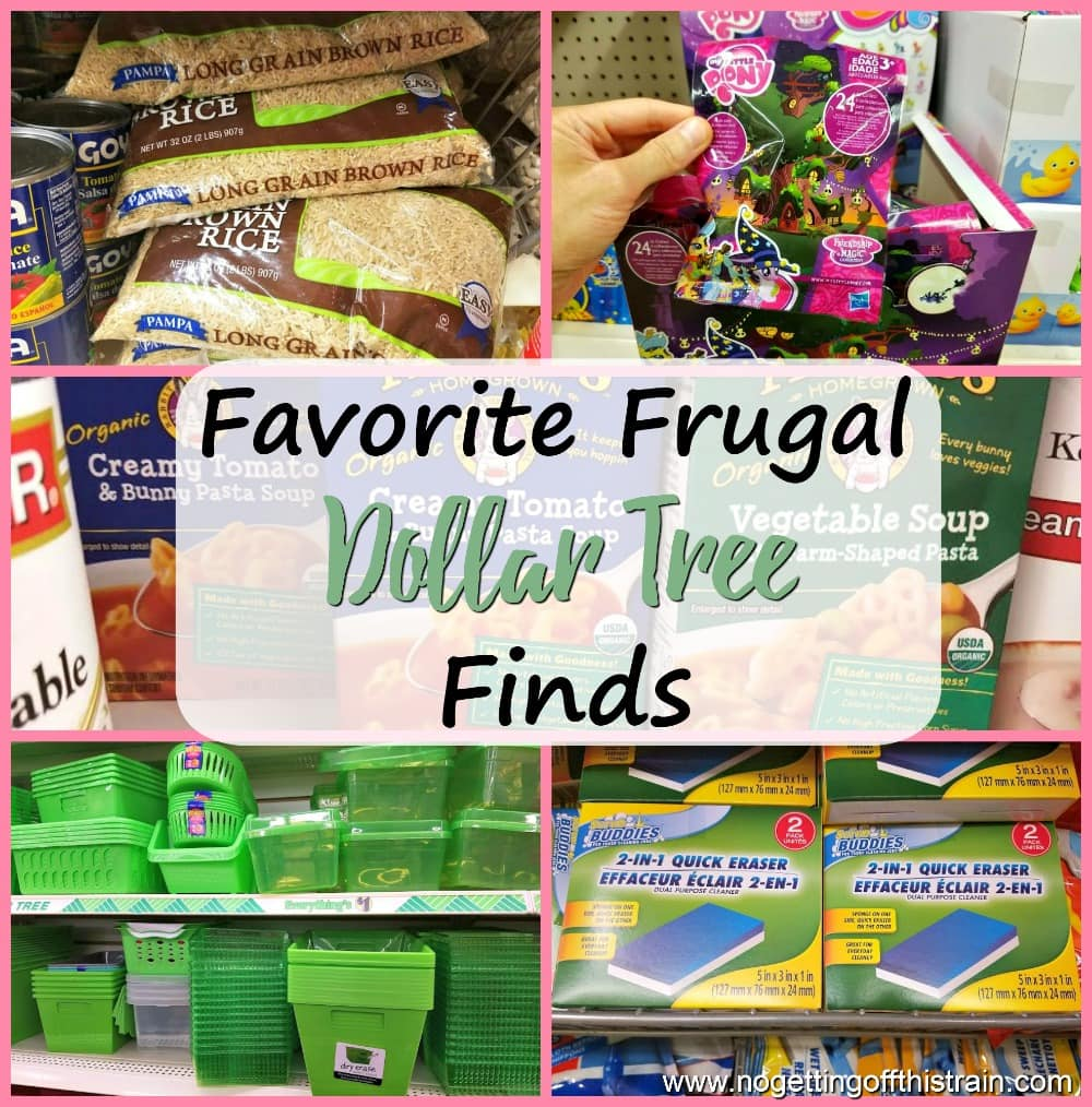 Think you can't get good deals at dollar stores? Here are my favorite frugal Dollar Tree finds- cheap food, cleaning supplies, and more!