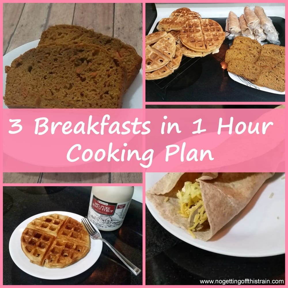 3 breakfasts in 1 hour freezer plan