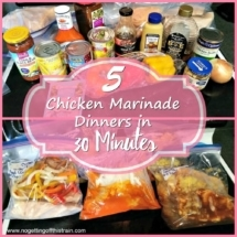 5 chicken marinade dinners plan