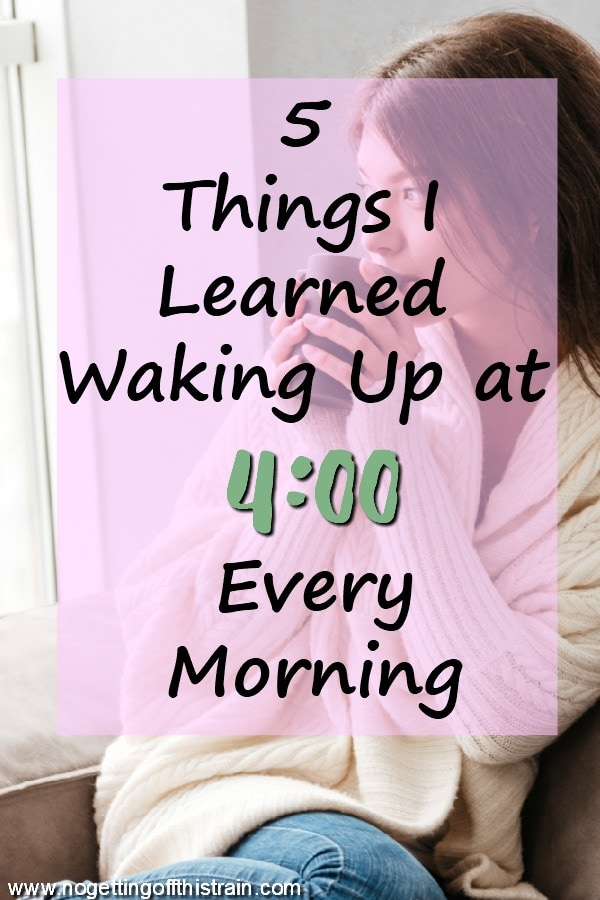 Waking up early can actually make you happier and more productive! Here are 5 things I learned from waking up at 4:00 every morning.