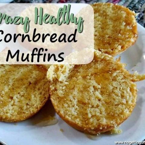Crazy Healthy Cornbread Muffins
