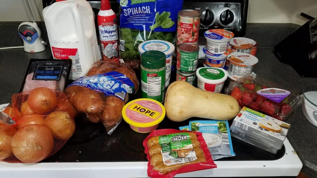 Meal plan, grocery list, and coupon deals for 10-22-18. Want to know what a family of 3 eats for $75 a week? Check back every Monday!