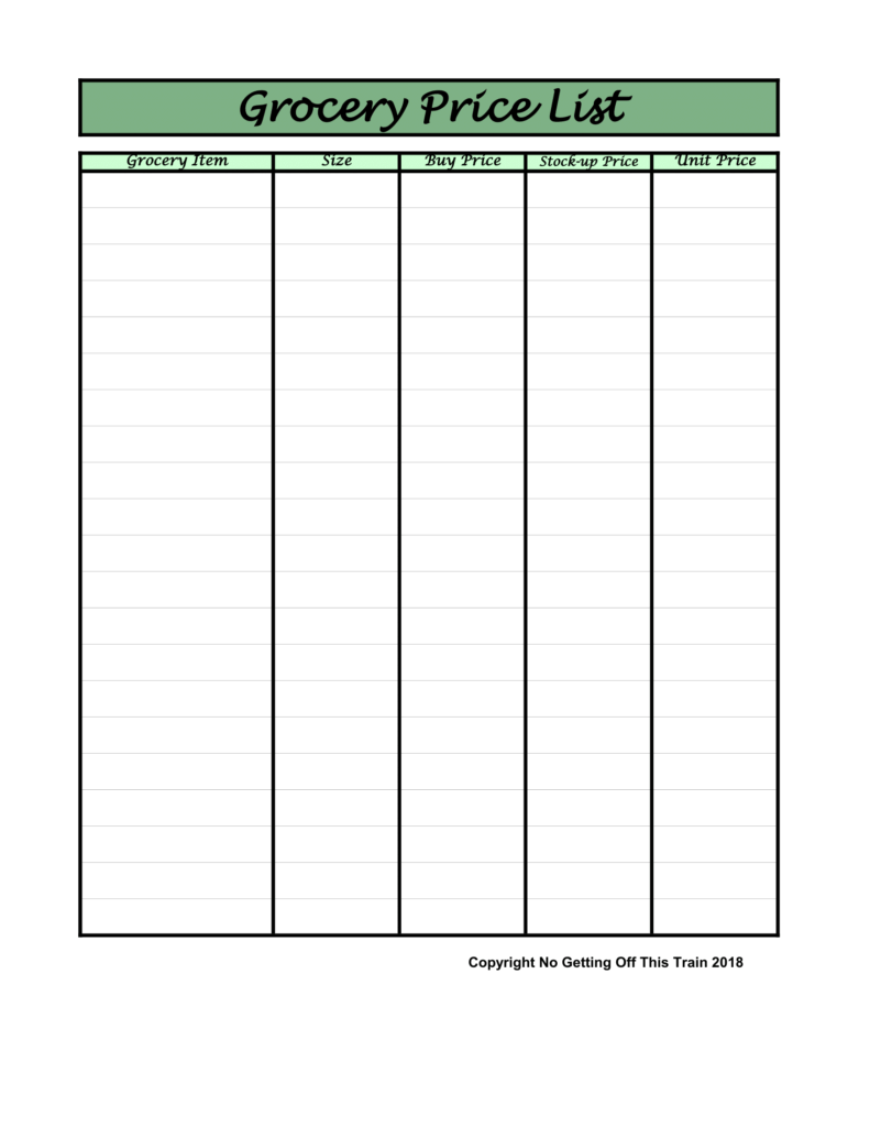 How do you make your grocery list? Here's how I use Google Docs as a grocery list to make a fast, easy, and accessible meal plan every week!