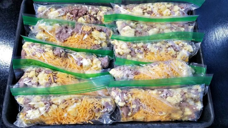 Freezer Breakfast Burrito Packs