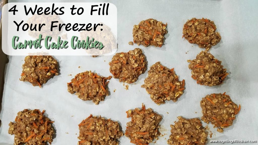 These Carrot Cake Cookies are an easy healthy treat! Full of good ingredients and freezer friendly, you'll even want to eat these for breakfast!