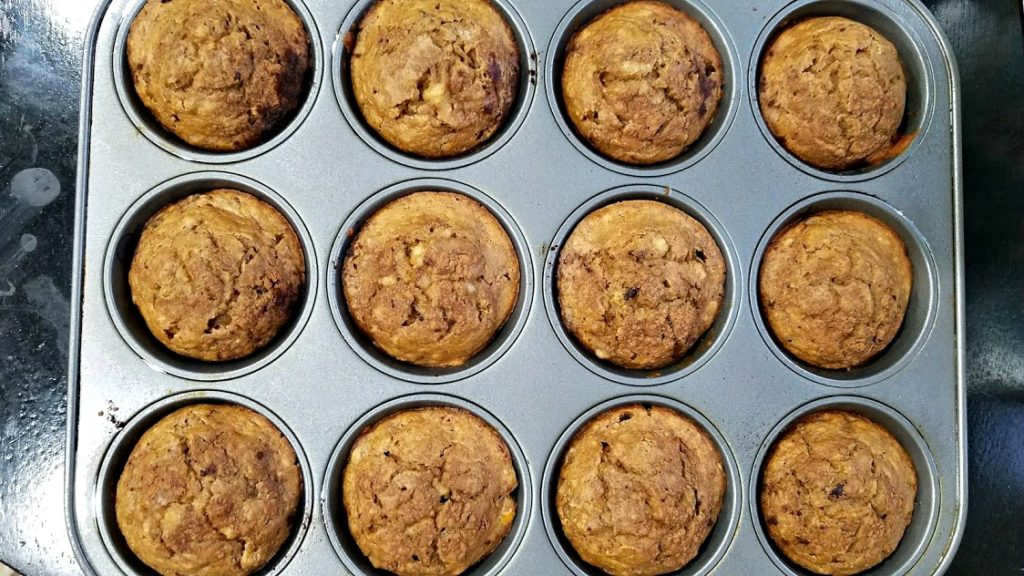 Image of homemade muffins in a muffin tin