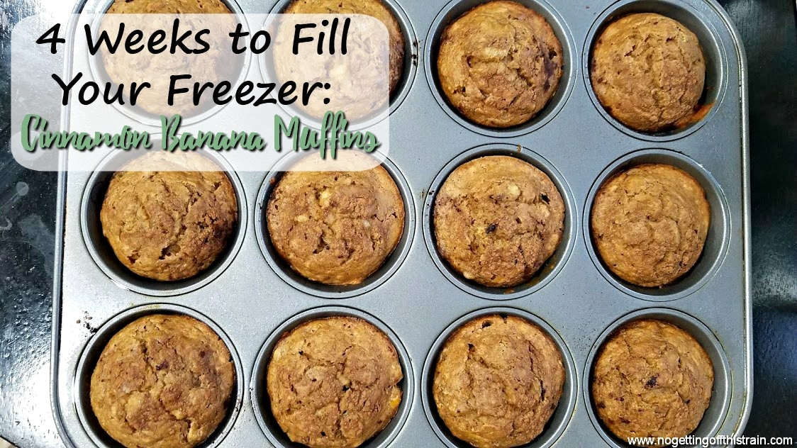 Cinnamon Banana Muffins (4 Weeks to Fill Your Freezer Day 17)