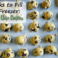 Freezer Chocolate Chip Cookies (4 Weeks to Fill Your Freezer Day 19)
