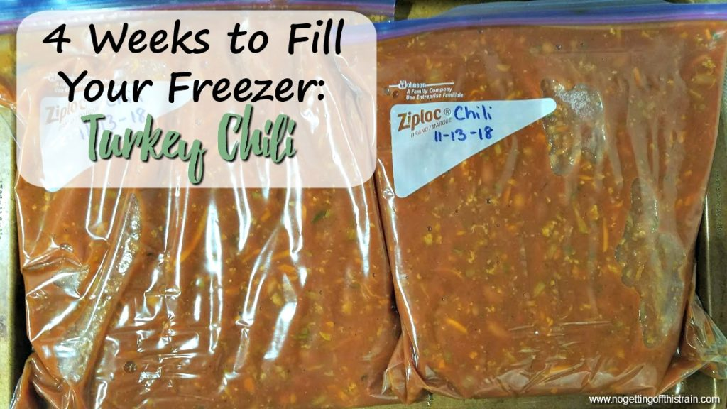 A perfect dinner for a cold night, this healthy Turkey Chili is made in the slow cooker and is freezer friendly! Eat half now and freeze the rest!