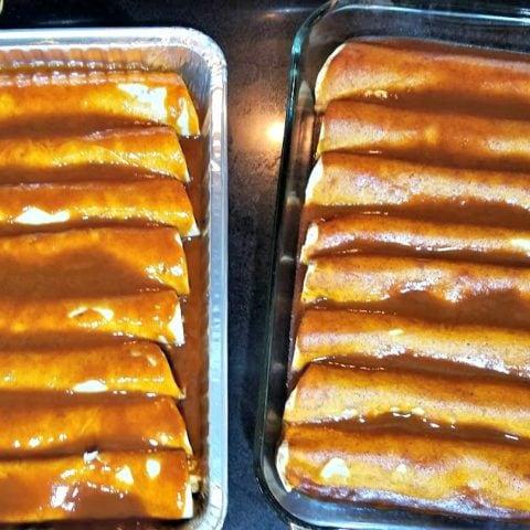 Red Chicken Enchiladas (4 Weeks to Fill Your Freezer Day 15)