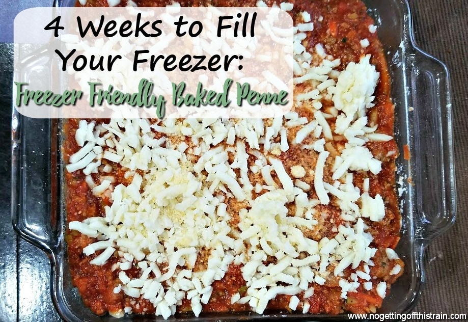 This Freezer Friendly Baked Penne is an easy family meal that makes a double batch! Eat one for dinner and put the other in the freezer for later!