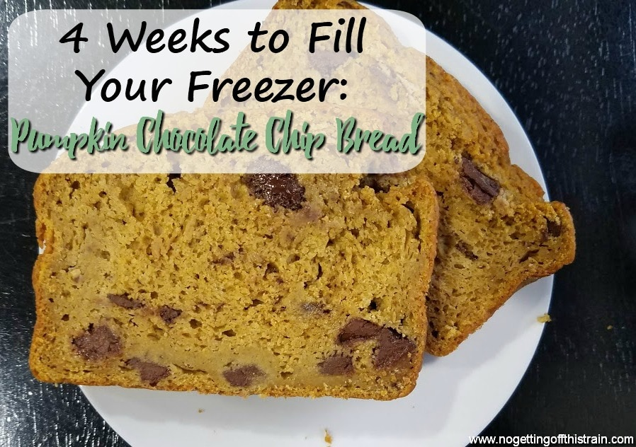 This Pumpkin Chocolate Chip Bread is the perfect Fall treat! It's full of healthy ingredients, freezer friendly, and good for breakfast or snacks!