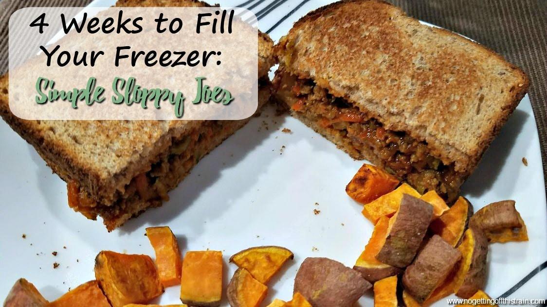 Freezer Sloppy Joes (4 Weeks to Fill Your Freezer Day 13)