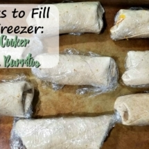 Slow Cooker Mexican Burritos (4 Weeks to Fill Your Freezer Day 7)