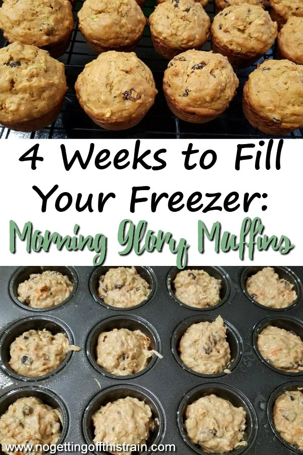 Need some vegetables in your breakfast? These Morning Glory Muffins are healthy, freezer friendly, and make a filling portable breakfast! #freezer #freezermeal #recipe #breakfast #muffin