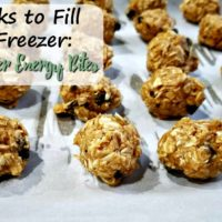 Peanut Butter Energy Bites (4 Weeks to Fill Your Freezer Day 16)