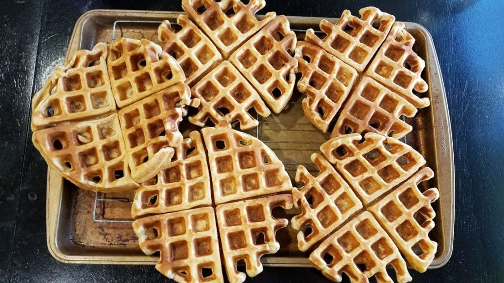 Image of waffles on a baking tray