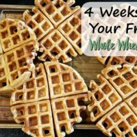 Whole Wheat Waffles (4 Weeks to Fill Your Freezer Day 1)