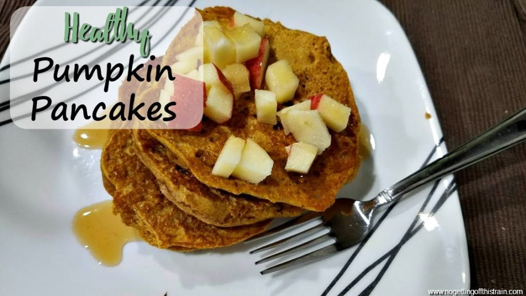 Need an easy Fall breakfast? These Healthy Pumpkin Pancakes are full of good ingredients, freezer friendly, and perfect on a cold morning!