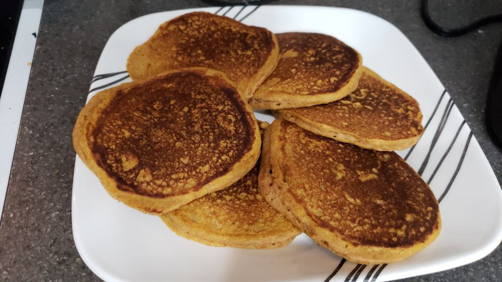 Pancakes on a large plate