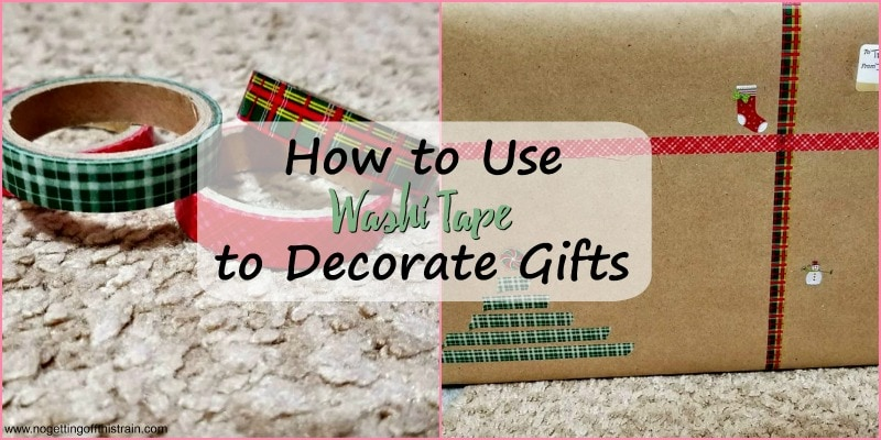 How to Use Washi Tape to Decorate Gifts