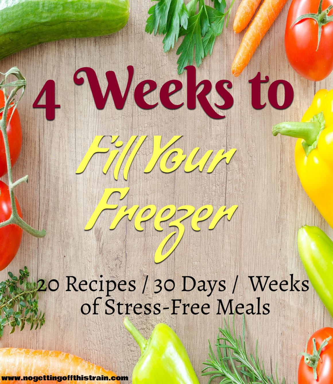 4 Weeks to Fill Your Freezer e-book