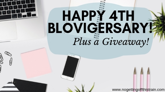 Happy 4th Blogiversary (Plus a Giveaway)!