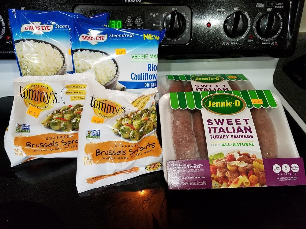 Meal plan, grocery list, and coupon deals for 4-1-19. Want to know what a family of 3 eats for $75 a week? Check back every Monday!