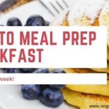 Meal prep breakfast for a week