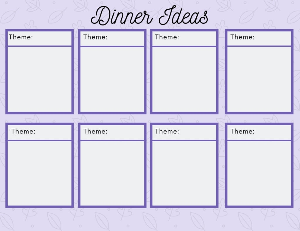 Don't know what to make for dinner? Here's a list of dinner theme ideas to spark your creativity! Create easy meals and delicious recipes in less time!