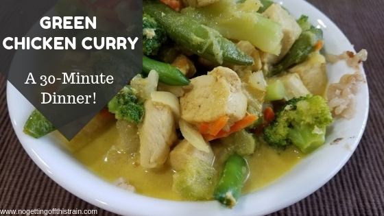 Add some spice to your week with this easy Green Chicken Curry! This quick recipe comes together in less than 30 minutes and is easily customized!
