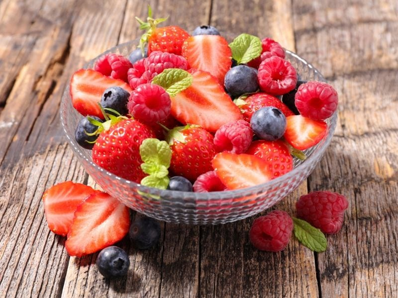 Image of a bowl of fresh berries