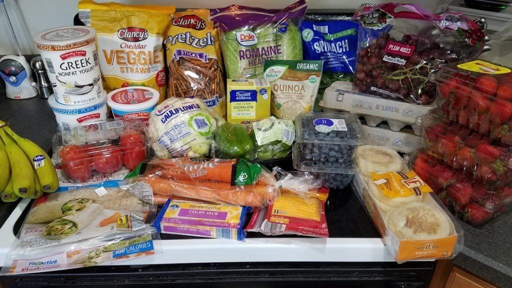 Meal plan, grocery list, and coupon deals for 7-8-19. Want to know what a family of 3 eats for $75 a week? Check back every Monday!