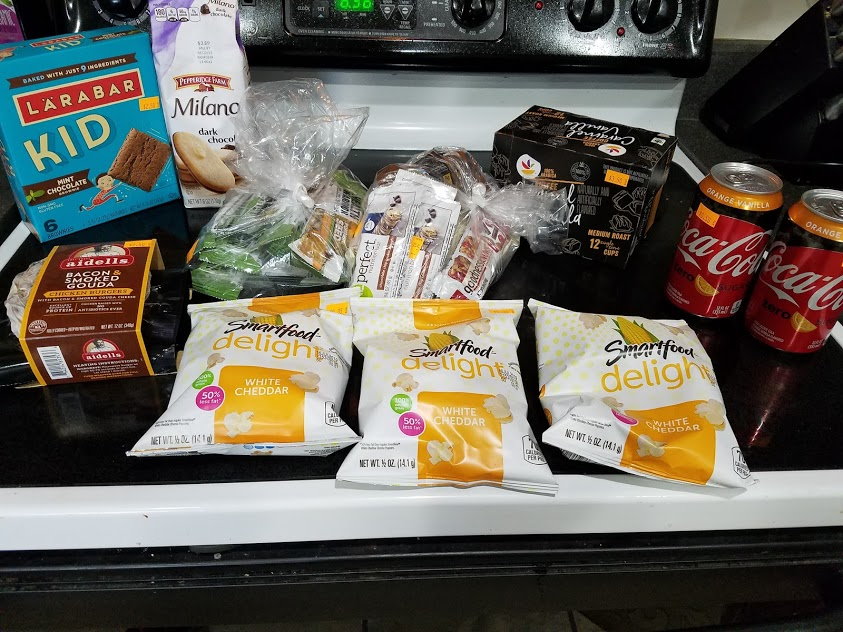 Image of items bought at Mr. Mac's Grocery Outlet