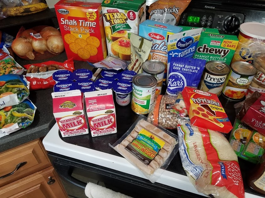 Image of groceries on a stove