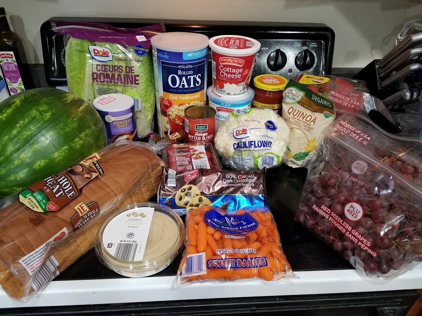 Image of items bought at Aldi