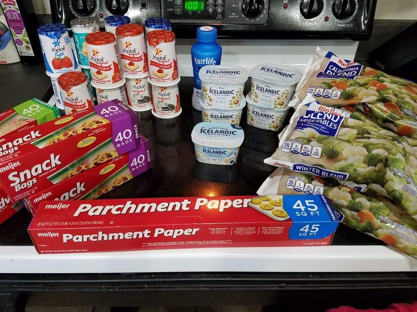 Image of groceries bought at Meijer