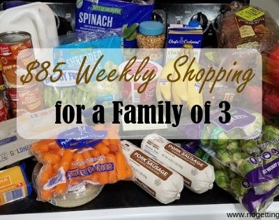 $85 Weekly Shopping and Menu 1-27-20