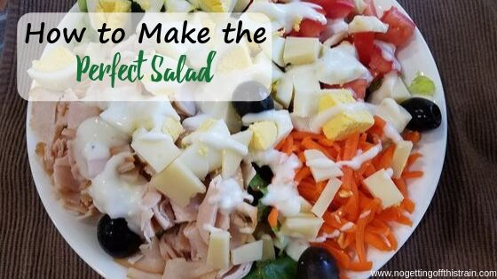 "Image of a salad with the title ""How to make the perfect salad"""