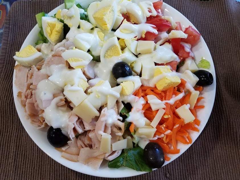 Image of a bowl full of salad