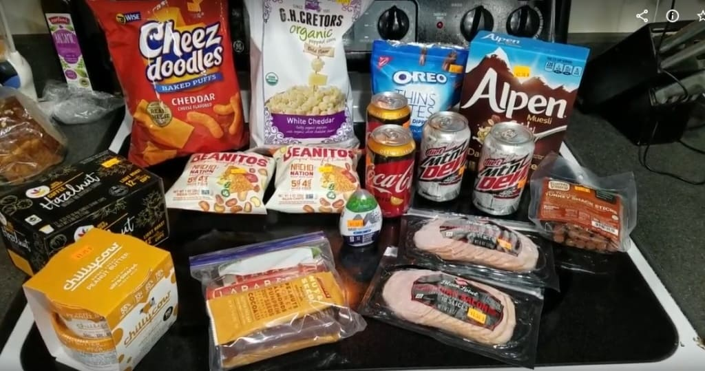 Image of groceries bought at Mr. Mac's Grocery Outlet