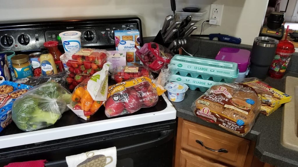Image of items purchased at Wal Mart