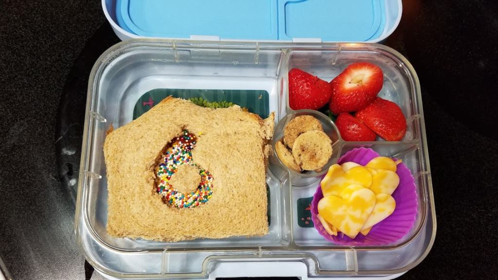 Image of a filled lunch box
