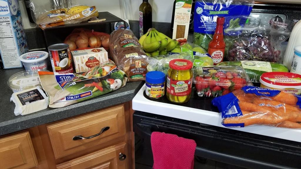 Image of groceries bought at Aldi
