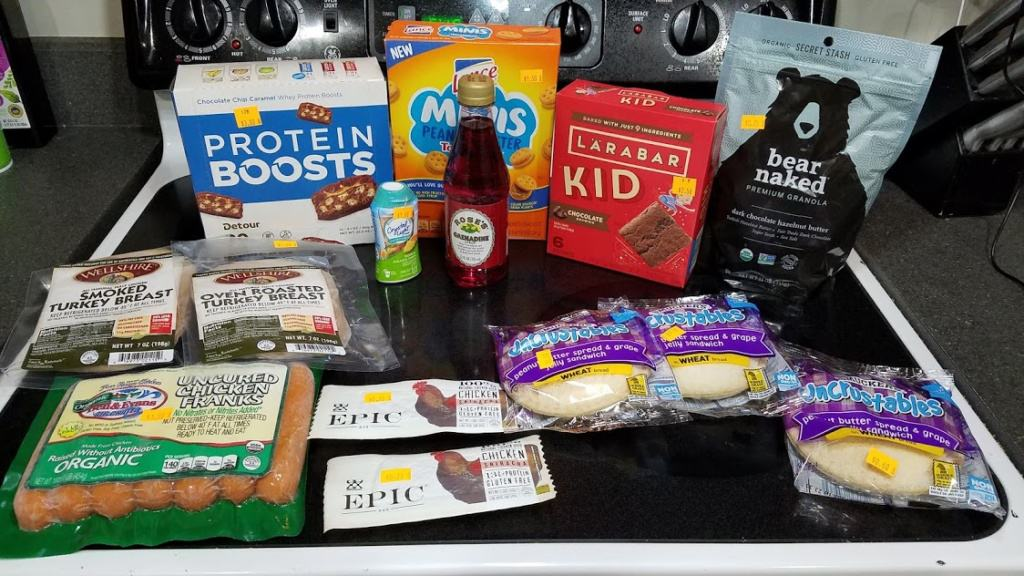 Images of groceries bought at Mr. Mac's Grocery Outlet