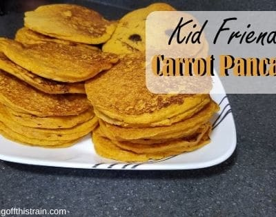 Kid Friendly Carrot Pancakes