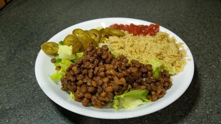Instant Pot Lentil Burrito Bowls