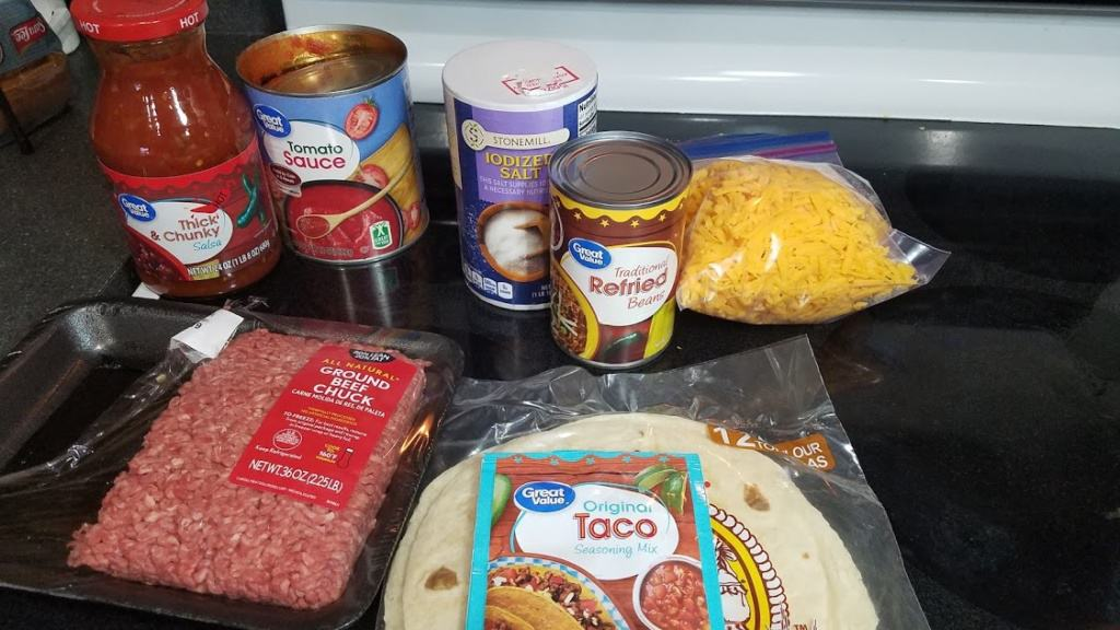 Image of Mexican Lasagna ingredients