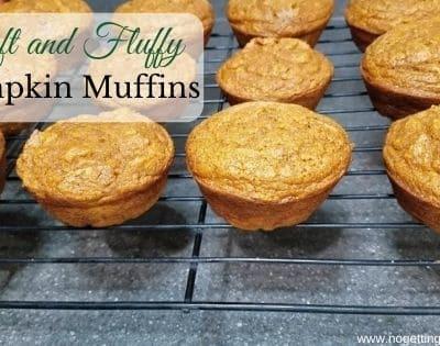Soft and Fluffy Pumpkin Muffins
