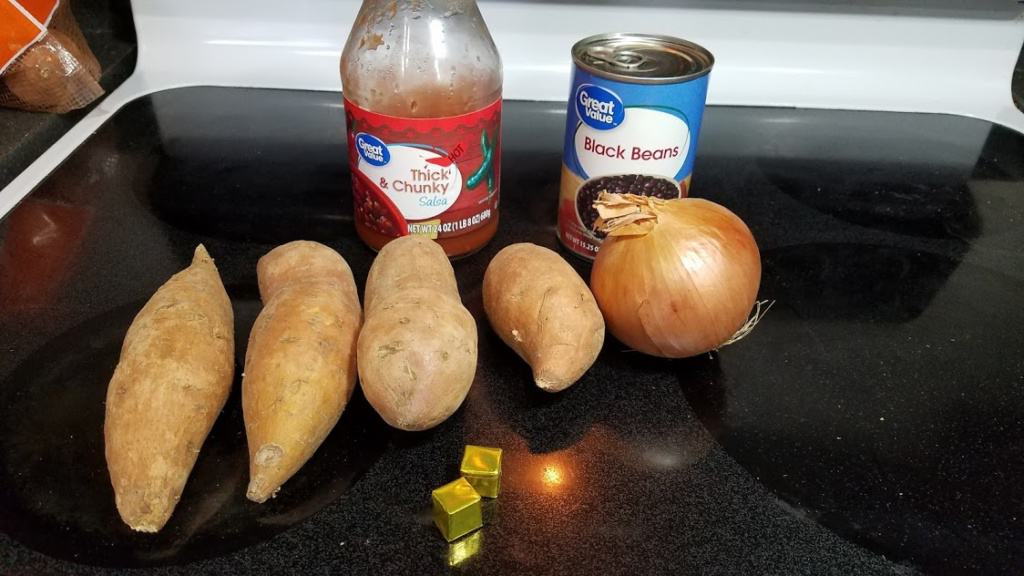 Image of sweet potato chili ingredients